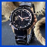Мужские часы оригинальные водонепроницаемые Naviforce NF9163 All Black