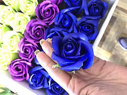 Роза из мыла синяя