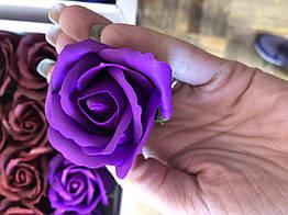 Роза из мыла фиолетовая