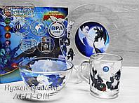 Набор детской стеклянной посуда ОСЗ  Как приручить дракона 18с2048 3 предмета, фото 1