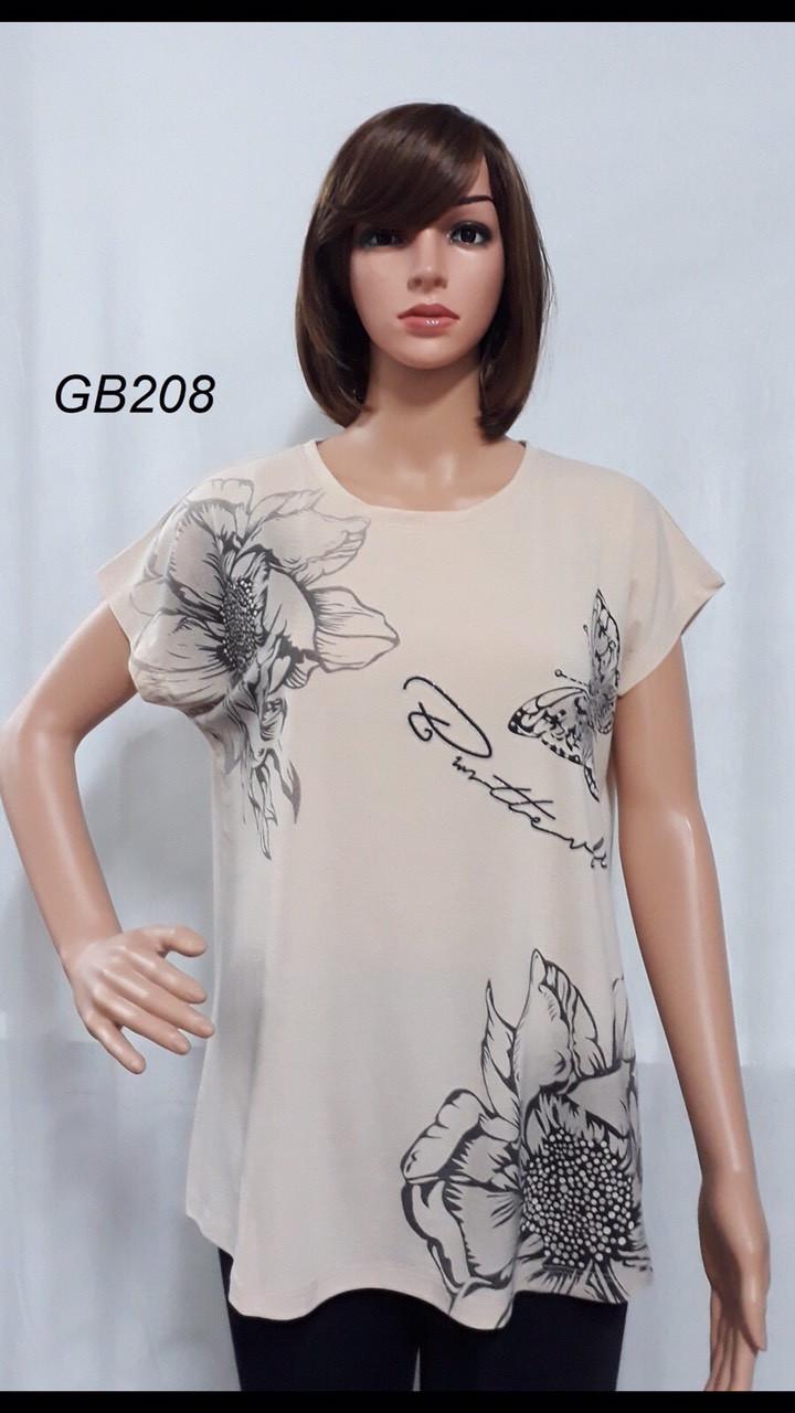 Женская футболка 3XL-6XL норма хлопок