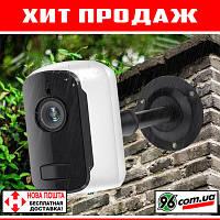 Беспроводная автономная WIFI IP камера видеонаблюдения 1080p 2MP FullHD с аккумулятором и датчиком движения!