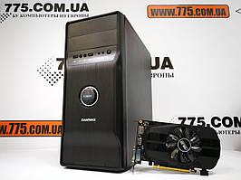 Игровой компьютер EuroCom, Intel Core i5-2400 3.4GHz, RAM 8ГБ, SSD 120ГБ, HDD 500ГБ, GeForce GTX 1050 2GB