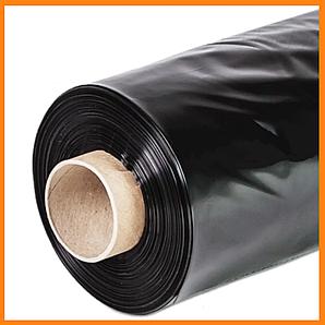 Пленка черная строительная 50 мкм 3*100 м для мульчирования и строительства