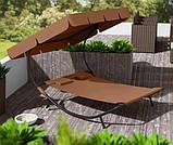 Двухместный шезлонг красный, лежак садовый, диван для сада и дачи, фото 8