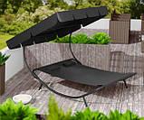 Двухместный шезлонг красный, лежак садовый, диван для сада и дачи, фото 9