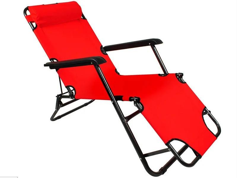 Складной лежак ACRYLIC ZIE красный садовый пляжный дачный