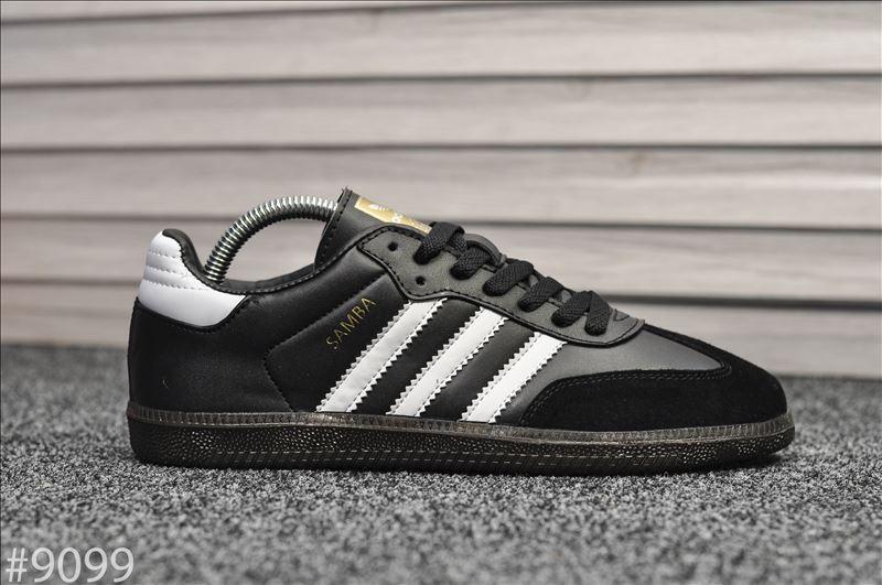Мужские кроссовки Adidas Samba Черные, Реплика
