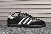 Мужские кроссовки Adidas Samba Черные, Реплика, фото 1