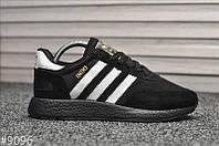 Чоловічі кросівки Adidas Iniki Runner All Black, Репліка, фото 1