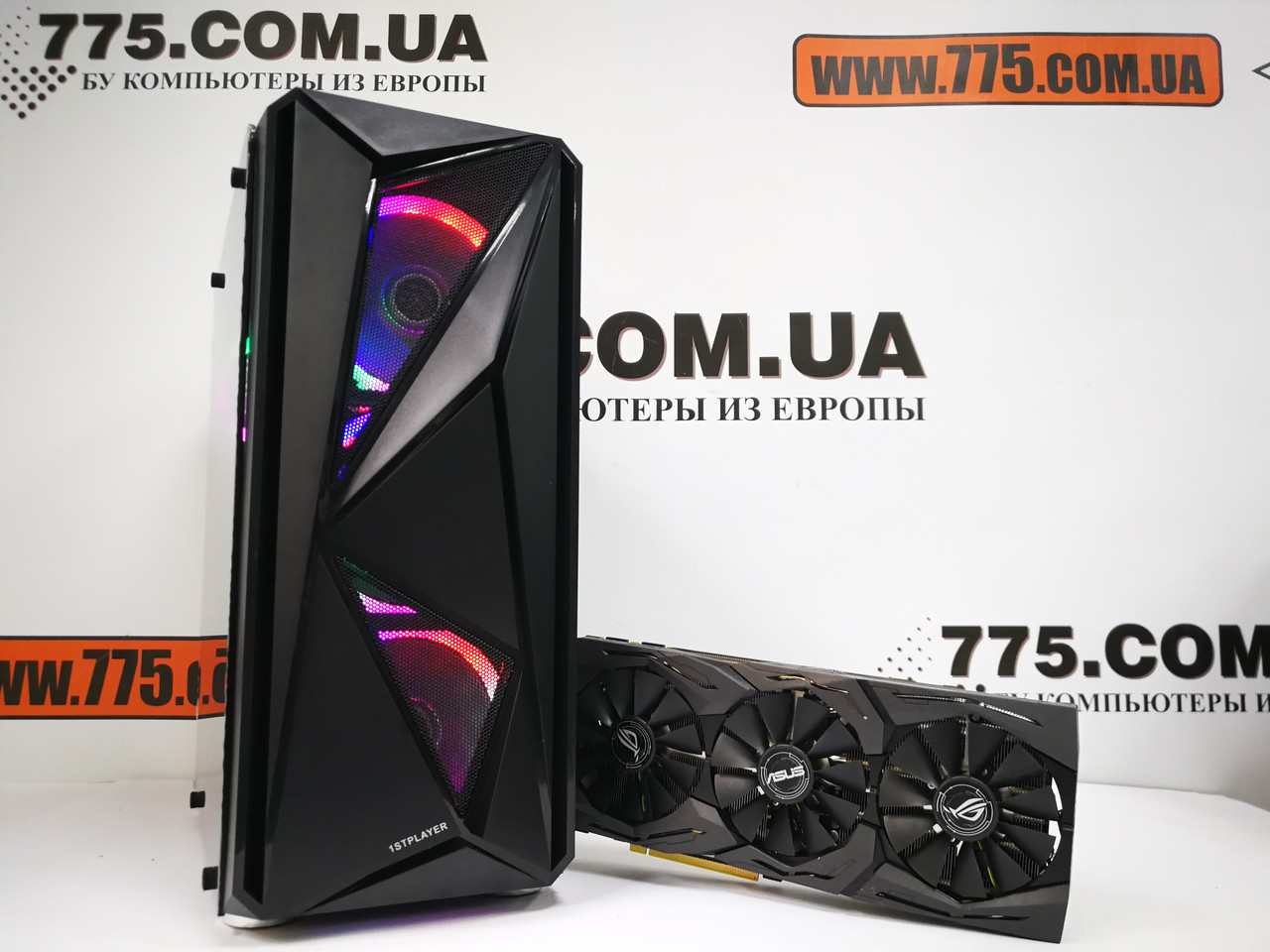 Игровой компьютер Intel Core i3-9100f 4.2GHz, RAM 16ГБ, SSD 480ГБ, GTX 1080 8ГБ