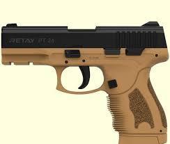 Пистолет стартовый Retay PT24 9мм. цвет tan