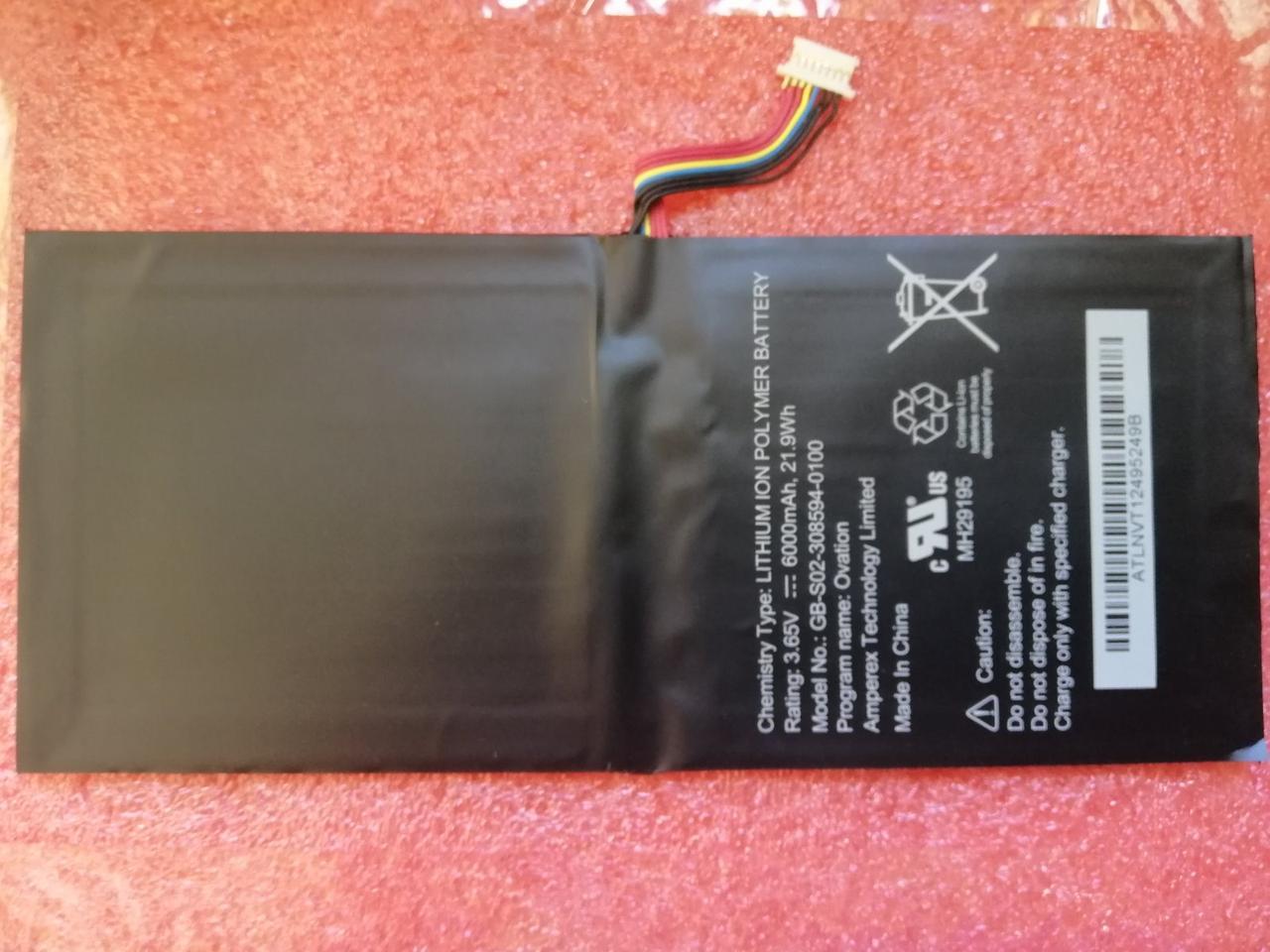 Аккумулятор Barnes & Noble AVPB00, AVPB002-A110-01, BNTV600, GB-S02-308594-0100, BNTV600, Nook HD+ Plus, NOOK
