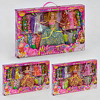 Кукла с нарядами и аксессуарами, 3 вида, 2268 С