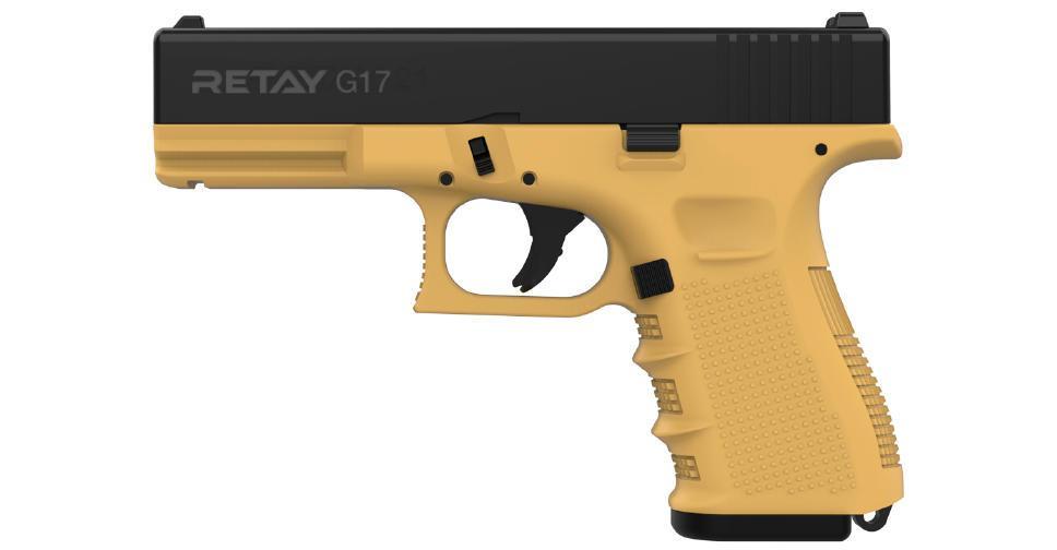 Пистолет стартовый Retay G17 9мм.цвет sand