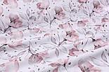 """Панелька из сатина для детского пледа """"Серо-пудовые цветы"""" 82*102 см, фото 4"""