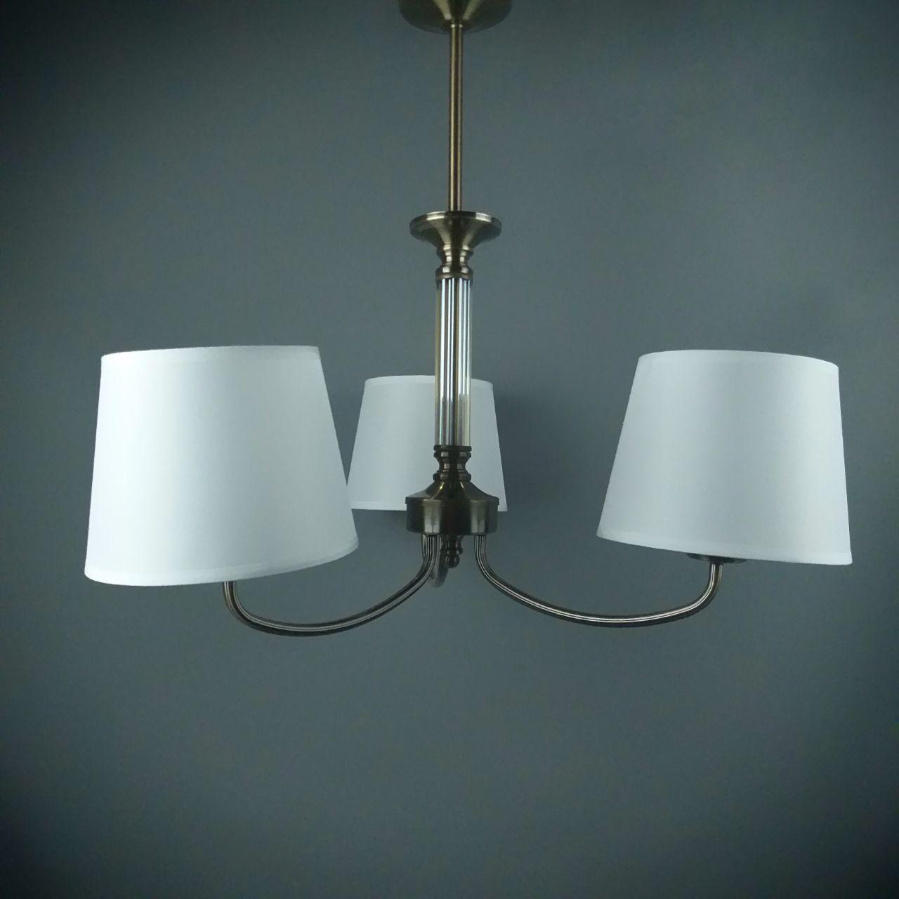 Люстра подвесная на 3 лампы 06-8923/3 AB+WT