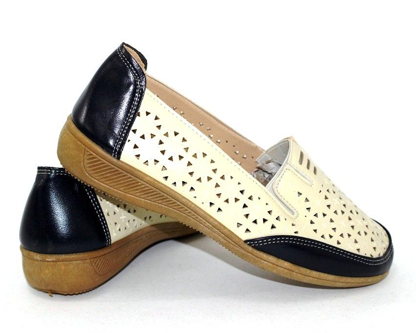 Летние туфли с перфорацией для женщин