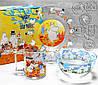 Набір дитячої скляній посуд ОСБ Мумі-Троль 3 предмета