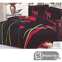 Комплект постельного белья Евро 200*230см | хлопок 100%,сатин | Сатиновый роман