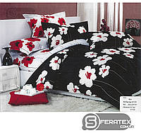 Комплект постельного белья Евро 200*230см | хлопок 100%,сатин | ТЕМПЕРАМЕНТНЫЕ МАКИ