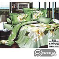 Комплект постельного белья Евро 200*230см | хлопок 100%,сатин | ЧАРУЮЩАЯ МАГНОЛИЯ
