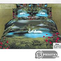 Комплект постельного белья Евро 200*230см | хлопок 100%,сатин | СОЮЗ ГРАЦИЙ