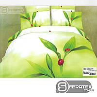 Комплект постельного белья Евро 200*230см | хлопок 100%,сатин | ПОТОК ЭНЕРГИИ