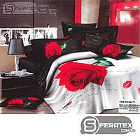 Комплект постельного белья Евро 200*230см | хлопок 100%,сатин | ПИСЬМО ШЕКСПИРА