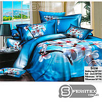 Комплект постельного белья Евро 200*230см | хлопок 100%,сатин | ДЫХАНИЕ ВЕСНЫ