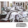 Комплект постельного белья Евро 200*230см   хлопок 100%,сатин   БЕЗМЯТЕЖНОЕ УТРО - Фото