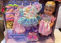 Кукла Warm Baby RT05081, с волосами, наряды, обувь, аксессуары