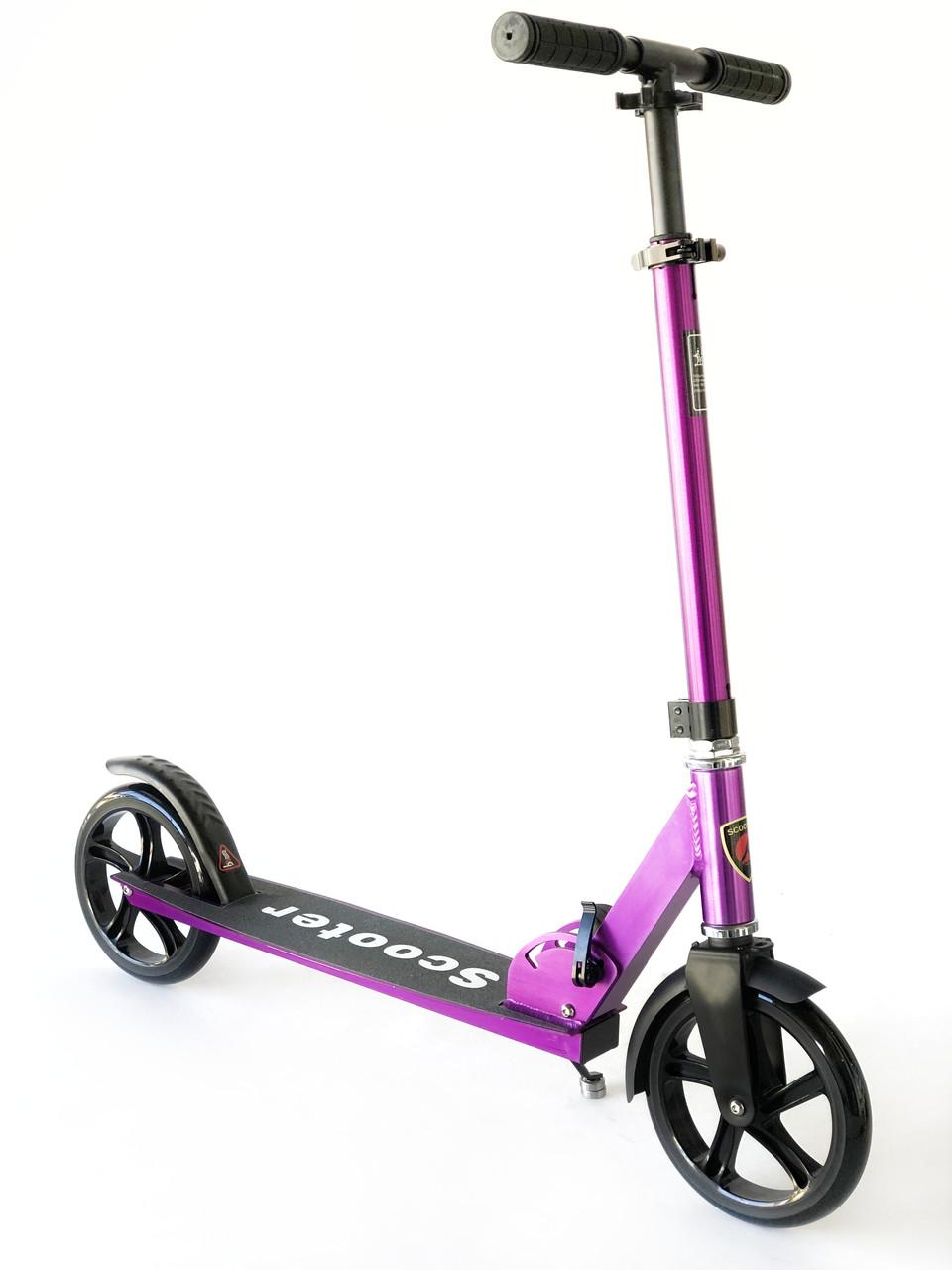 Самокат на великих колесах Scooter Pro 109-C3   Фіолетовий