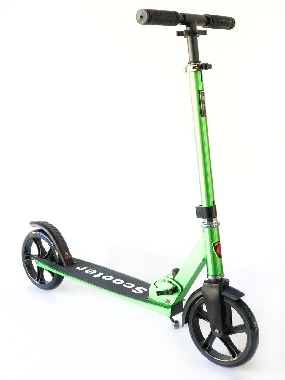 Самокат на больших колесах Scooter Pro 109-C3   Зеленый