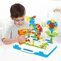 Винтовая мозаика с шуруповертом детский конструктор 193 элемент Creative Puzzle