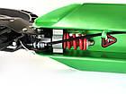 Самокат на больших колесах Scooter 116-D2 с клипсой и подстаканником   Зеленый, фото 4