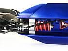 Самокат на больших колесах Scooter 116-D2 с клипсой и подстаканником   Синий, фото 4