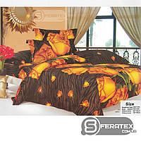 Комплект постельного белья Евро 200*230см | хлопок 100%,сатин | ДИКАЯ РОЗА