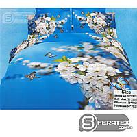Комплект постельного белья Евро 200*230см | хлопок 100%,сатин | АПРЕЛЬСКОЕ УТРО