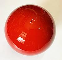 М'яч для художньої гімнастики червоний лаковий 240 гр. діаметр 15 див., фото 1