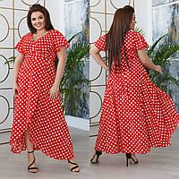 Летнее платье на запах софт 42-44 44-46 48-50 52-54 56-58 белый горох + марсала красный чёрный хаки капучино