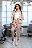 Костюм брючный  с укороченными брюками и курткой свободного кроя,5 цветов,  р.44,46,48,50 Код 1030В, фото 5