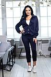 Костюм брючный  с укороченными брюками и курткой свободного кроя,5 цветов,  р.44,46,48,50 Код 1030В, фото 6