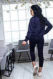 Костюм брючный  с укороченными брюками и курткой свободного кроя,5 цветов,  р.44,46,48,50 Код 1030В, фото 7