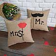 """Набор из двух подушек """"Мистер и Миссис"""", фото 2"""