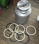 Резиновое кольцо уплотнитель молочного бидона на 25,20,38, и 40литров Черное, фото 3