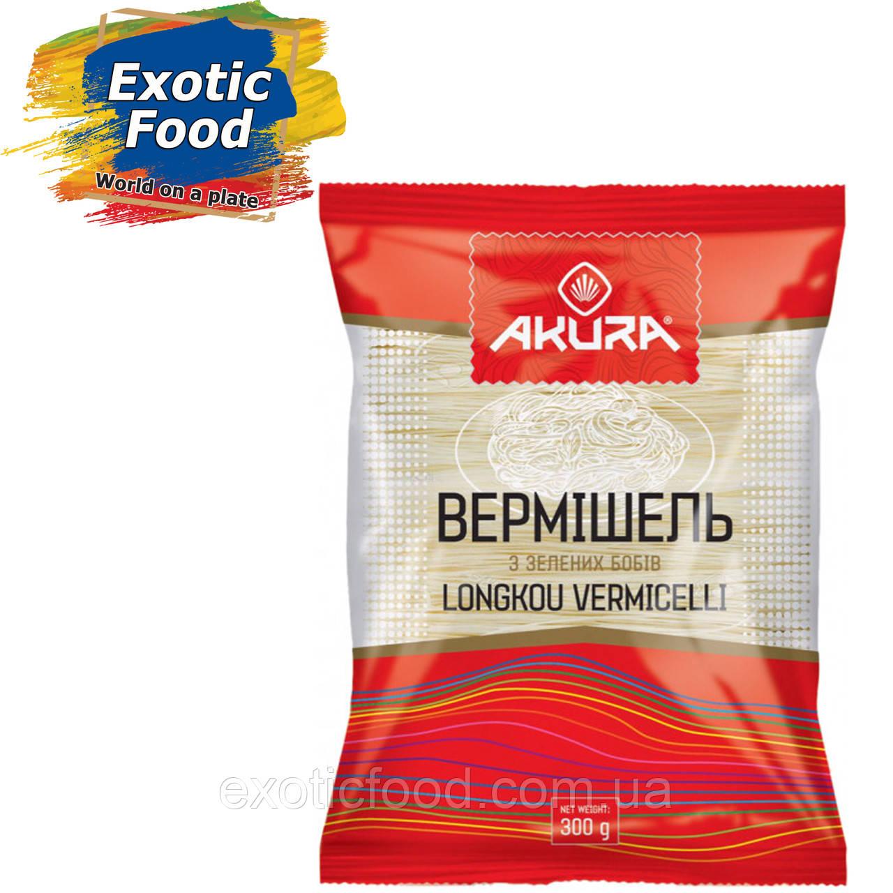 """Вермишель из зеленых бобов ТМ """"AKURA"""", 300 г"""