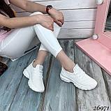 Женские белые кроссовки текстильные повседневные, фото 2