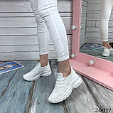 Женские белые кроссовки текстильные повседневные, фото 4