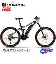 Электровелосипед 27.5 HAIBIKE XDURO AllMtn 8.0 двухподвес рама M серый (4540340844)